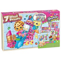 Shopkins 7-pk Wood Puzzle Set by Cardinal