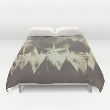 When mountains fall asleep Duvet Cover by HappyMelvin | Society6