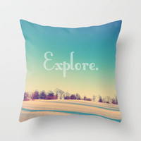 Explore Throw Pillow by Josrick | Society6