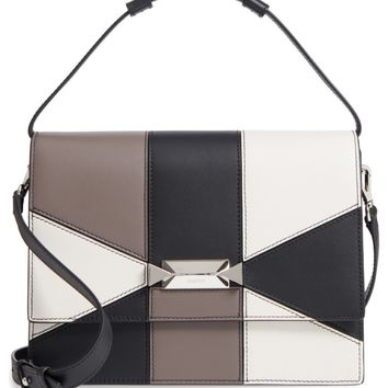 Max Mara Patchwork Butterfly Calfskin Leather Top Handle Satchel | Nordstrom