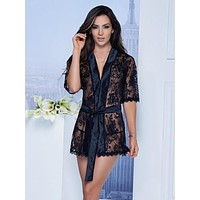 Babydoll Lace Robe G-String set