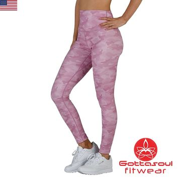 Orchid Camo Breast Cancer Research Leggings