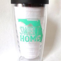 Sweet Home Florida Tumbler in Black and Mint by Judith March - FINAL SALE