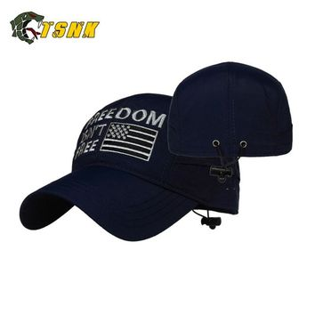 "TSNK 3D Embroidery ""FREEDOM ISN'T FREE""Tactical Quick-Dry Men Women Baseball Cap Running Hat Sunshade Sunhat"