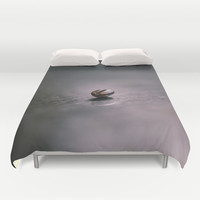One small thing, so much love Duvet Cover by HappyMelvin