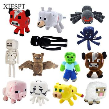 XIESPT Minecraft Plush Toys 13 Styles Soft Stuffed Animal Doll Kids Game Cartoon Toy Brinquedos Children Gift Free Shipping