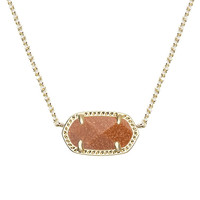 Kendra Scott: Elisa Pendant Necklace In Goldstone