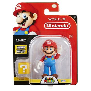 "NEW 2017 Mario with Question Block World Of Nintendo 4.5"" Figure Super Mario"