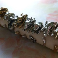 Pre Order Silver Wrap Elephant Ring 6-7