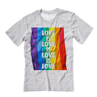 Gay Pride TShirt LOVE IS LOVE | Equal Rights American Flag Rainbow Gay Pride T Shirt American Flag Shirt | Equal Rights