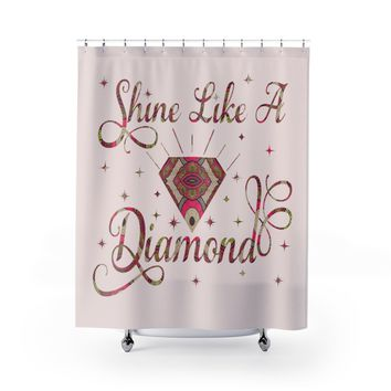 Ankara Diamond African Inspired Shower Curtain