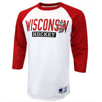 Wisconsin Hockey Enforcer Raglan Shirt