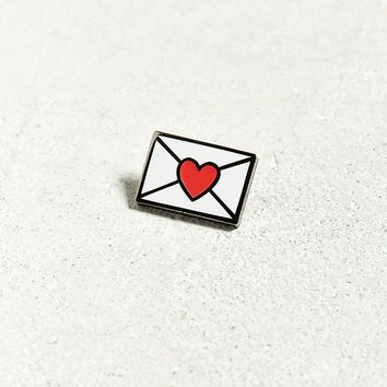 Envelope Heart Pin | Urban Outfitters