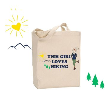 This Girl Loves Hiking - philoSophie's Canvas Tote Bag