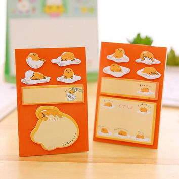 Funny Lazy Egg N Times Self-Adhesive Memo Pad Sticky Notes Post It Bookmark School Office Supply