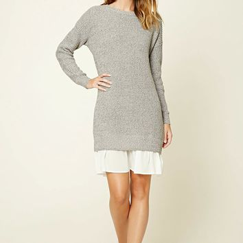 Contemporary Marled Combo Dress