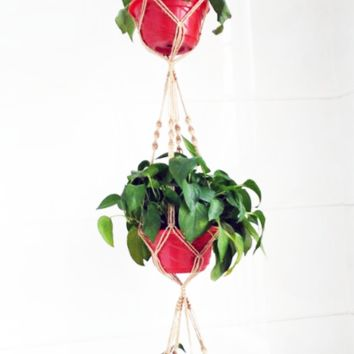 Three Tier Macrame Plant Hanger
