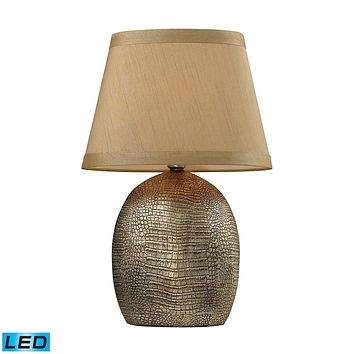 Gilead LED Table Lamp With Alligator Texture Base In Meknes Bronze