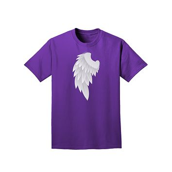 Single Left Angel Wing Design - Couples Adult Dark T-Shirt