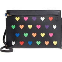 Loewe Heart Print Leather Crossbody Clutch | Nordstrom
