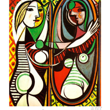 Girl Before a Mirror, c.1932 Art Print by Pablo Picasso at Art.com