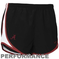 Nike Alabama Crimson Tide Ladies Black Dri-FIT Tempo Performance Training Shorts