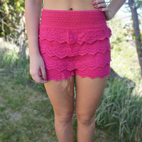 Lace Upon Lace Shorts
