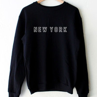 New York Oversized Sweater - Black