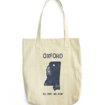 Oxford American Apparel Cotton Tote Bag