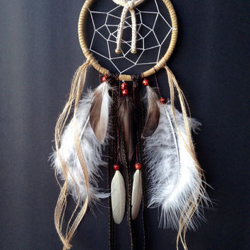 "Fall Seasonal Neutral Colors 5"" custom dreamcatcher"