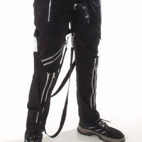Canvas Bondage Trousers - Mens gothic, industrial and cyber pants.