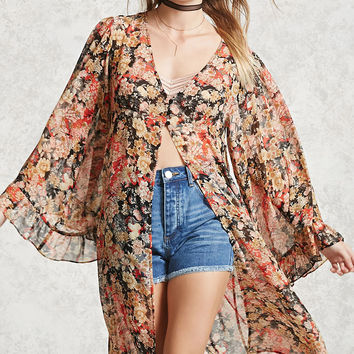 Contemporary Floral Cardigan