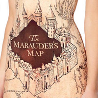 Design 3036 - Marauder's Map sleeveless dress