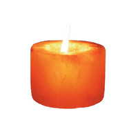 Cylinder Shaped Himalayan Salt Candle Holder