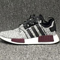 ADIDAS NMD Grey-purple Women Men Fashion Trending Leisure Running Sports Shoes