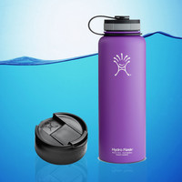 Hydro Flask 40 Oz Insulated Stainless Steel Water Bottle Purple + Hydro Flip Cap