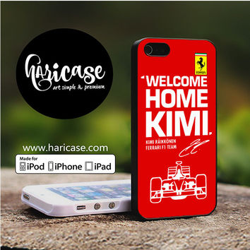 Kimi Raikkonen Welcome Home Ferrari F1 Team iPhone 5 | 5S | SE Cases haricase.com
