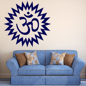 Vinyl Decal Wall Sticker Om Mantra Esoteric Hindu Deity Studio Art Unique Gift (M586)