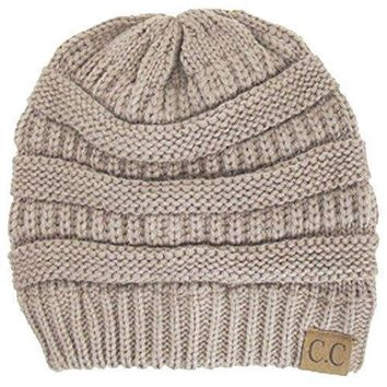 Whosale Online Winter White Ivory Thick Slouchy Knit Oversized Beanie Cap Hat