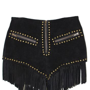 HOLD YOUR HORSES SUEDE SHORTS