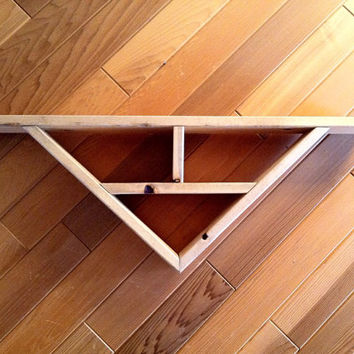 Rustic geometric shelf country home decor, lodge decor, cabin decor