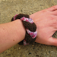 Knit bracelet womens hand knitted bracelet knitted jewelry hand knitted cuff