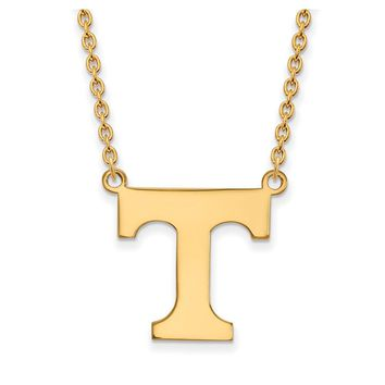 NCAA 14k Yellow Gold U of Tennessee Large Pendant Necklace