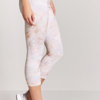 Active Marble Print Capri Leggings