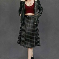 Lucca Couture Window Pane Circle Skirt