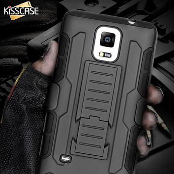 KISSCASE For Samsung S8 Plus S7 S6 Edge Plus S5 Case Men Military Armor Phone Case For Samsung Galaxy Note 4 5 3 S6 S7 S8 Cases