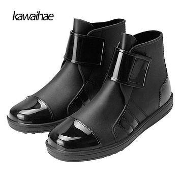 Size 39-45 PVC 2017 Autumn Winter Men Boots Fashion Waterproof Rain Boots Brand Boots Rubber Shoes Kawaihae 603