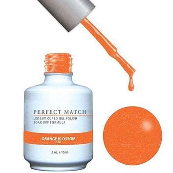 LeChat Perfect Match Gel / Lacquer Combo - Orange Blossom 0.5 oz - #PMS145