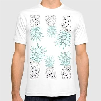 Pineapple Pattern T-shirt by ES Creative Designs
