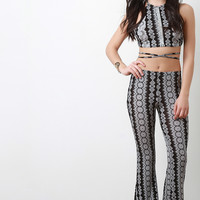 African Print Flared Pants